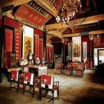 Furniture displayed in the back house of Confucian Temple of Qufu, Shangdong