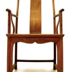 Ming Dynasty yellow rosewood mandarin-style chair, 116cm high, named from its resembling ancient official's headgear