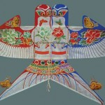 Beijing wing-to-wing swallow kite. It is a kind of sand swallow kite made of bamboo and silk.