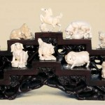 Ivory carving of twelve Chinese zodiac signs