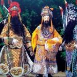 Marionettes Zhangfei, Liubei, Guanyu, 80 cm high, Zhangzhou, Fujian