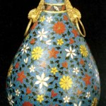 Ming Dynasty pinch-wire enamel bottle, housed in Palace Museum.