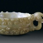 Jade cup in the shape of cloud from the Tang Dynasty