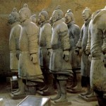Terracotta warriors of Qin Dynasty, unearthed from the  tomb of the First Emperor of the Qin Dynasty in Lintong, Shaanxi