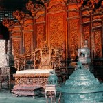 The original throne display in the Dazheng Hall